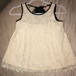 Monteau Girl 👧 Lacy Tank Bow Tie Back size 14